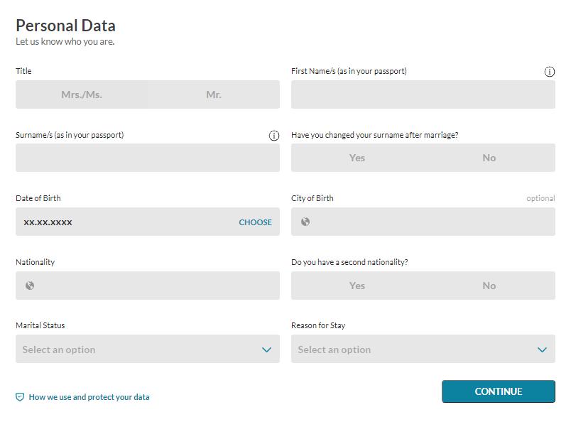 Fintiba 限制提領帳戶 個人信息填寫