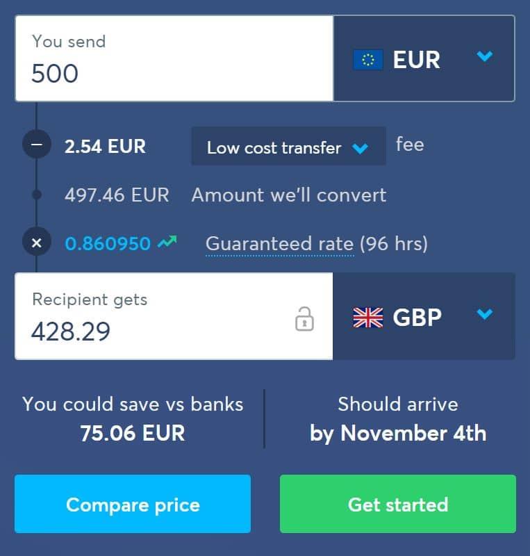 歐元轉英鎊省去手續費及匯差