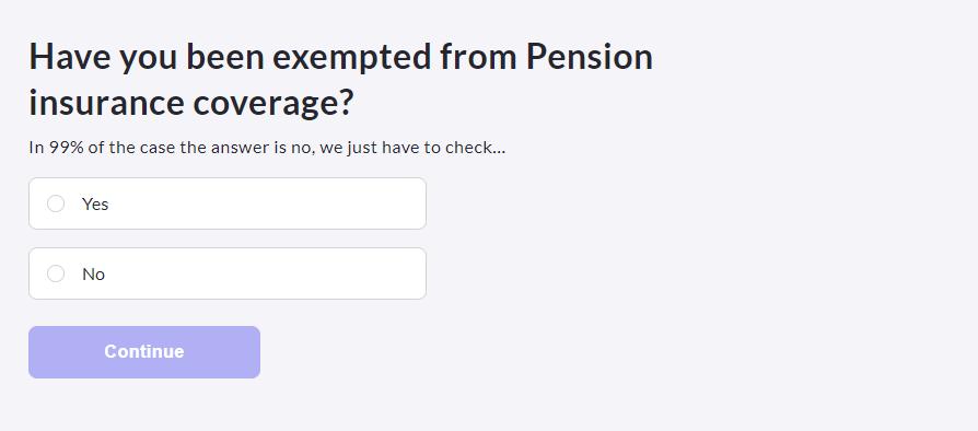 TK 公保線上申請 是否擁有德國退休金豁免資格